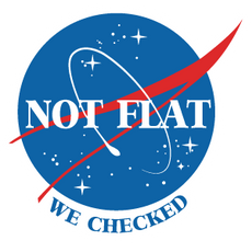 NASA Logo Not Flat We Checked Sticker