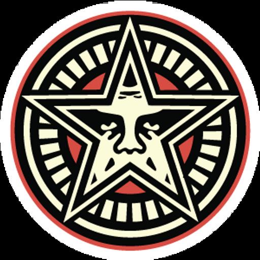 Obey Star Sticker
