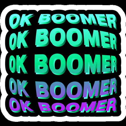 OK Boomer on a Black Background Sticker