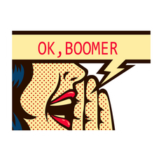 OK Boomer Pop Art Style Sticker