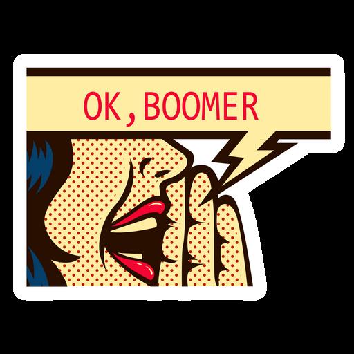 OK Boomer Pop Art Style Sticker