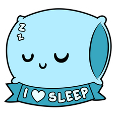 Pillow I Love to Sleep Sticker
