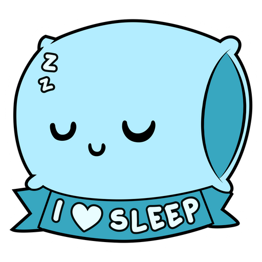 Pillow I Love to Sleep Sticker