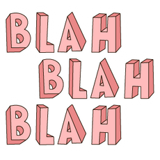 Pink Blah Blah Blah Sticker