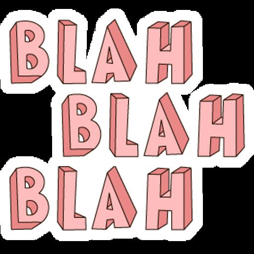 Pink Blah Blah Blah Sticker