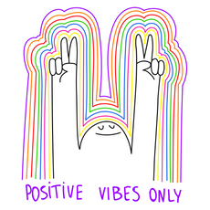Positive Vibes Only Sticker