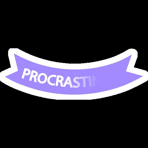 Procrastination Logo Sticker