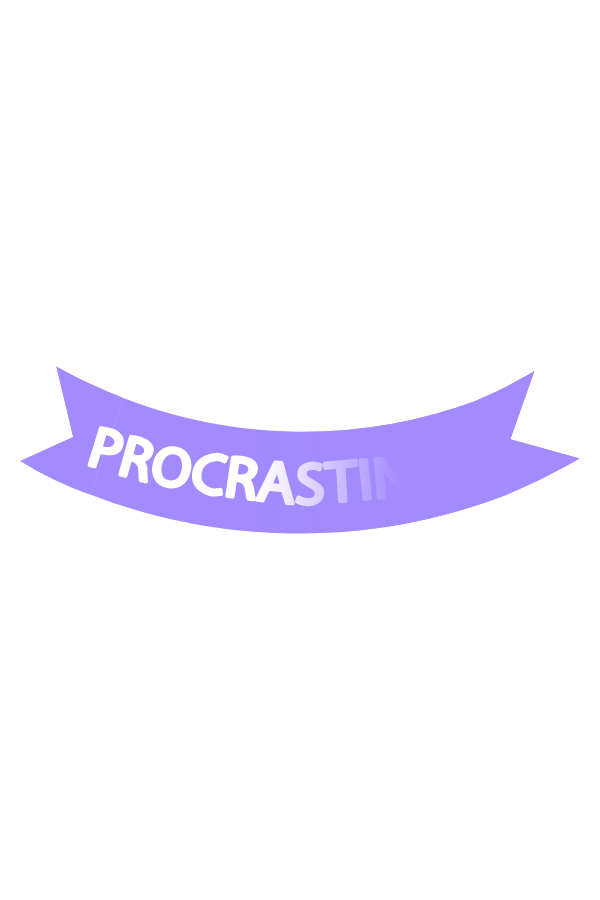 Procrastination Logo Sticker