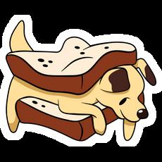 Puppy Sandwich Sticker