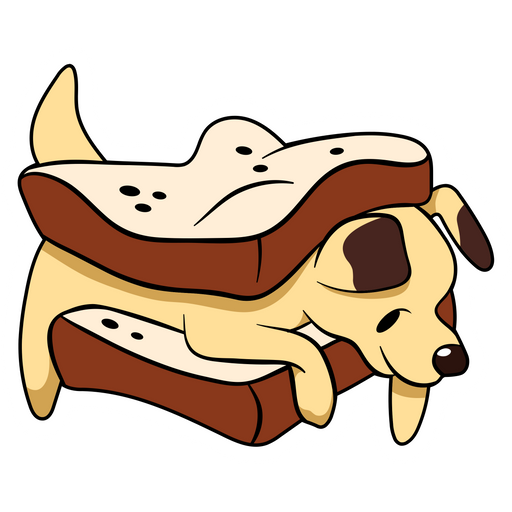 Puppy Sandwich Sticker