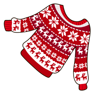 Red Snowflake Raindeer Christmas Jumper