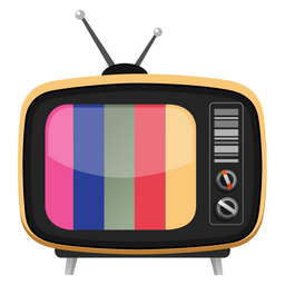 Retro TV Playing Color Bars Sticker