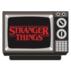 Retro TV Stranger Things Sticker