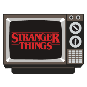 Retro TV Stranger Things Sticker