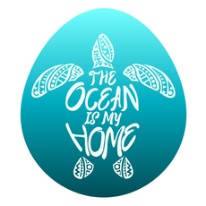 Save the Ocean Turtles Blue Sticker