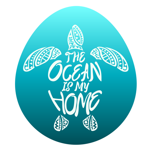 Save the Ocean Turtles Blue Sticker