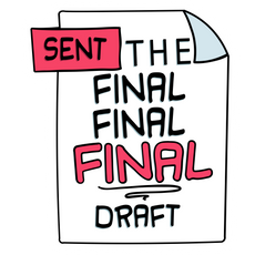 Sent the Final Final Final Draft Sticker
