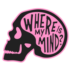 Skull Where is My Mind Sticker