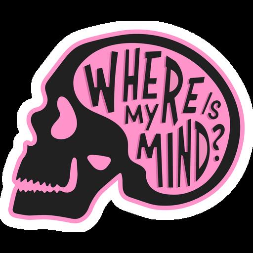 Skull Where is My Mind Sticker