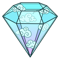 Sky Diamond Sticker