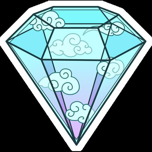 Sky Diamond Sticker