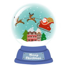 Snow Globe Santa Claus Sticker