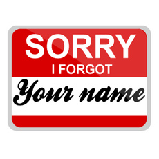 Sorry I Forgot Your Name Card Sticker