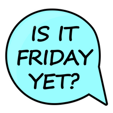 Speech Balloon Is it Friday Yet Sticker