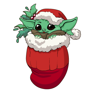 Star Wars Christmas Baby Yoda Sticker