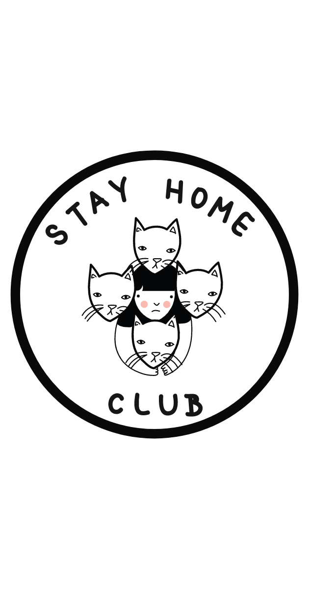Stay Home Club Sticker