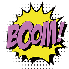 "Pop Art Comics ""Boom!"" Sticker"
