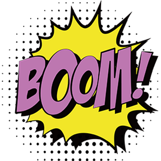 "Pop Art Comics ""Boom!"" Sticker"
