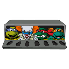 Pennywise and Ninja Turtles Sticker