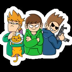 Eddsworld Trio with Cat