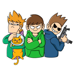 Eddsworld Trio with Cat