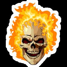 Ghost Rider Fire Head Sticker