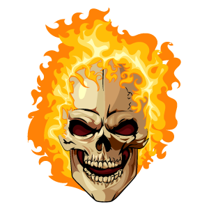Ghost Rider Fire Head Sticker