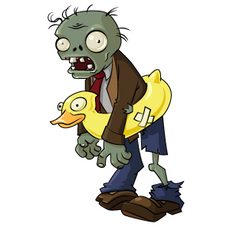 Plants vs. Zombies Ducky Tube Zombie Sticker