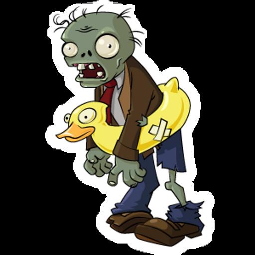 Plants vs. Zombies Ducky Tube Zombie Sticker