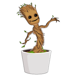Baby Groot Plant Pot Sticker