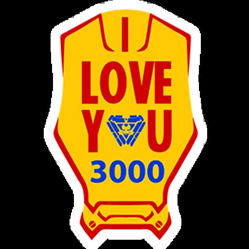 Iron Man I Love You 3000 Sticker