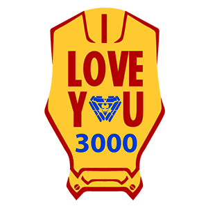 Iron Man I Love You 3000 Sticker