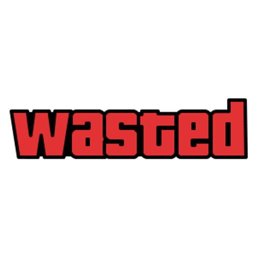 Wasted Red GTA Sticker