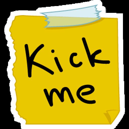 Kick Me April Fools Day Sticker
