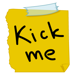 Kick Me April Fools Day Sticker