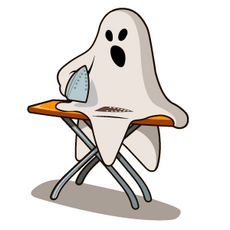 Halloween Ghost Ironing before party