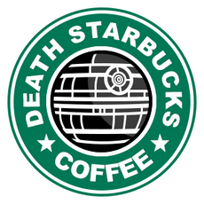 Death StarBucks Coffee Sticker
