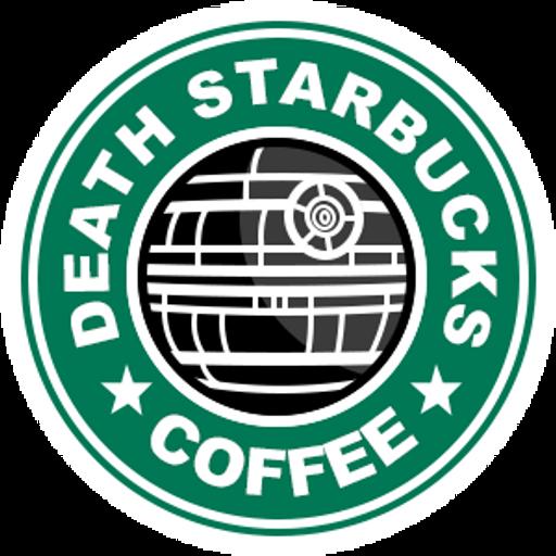 Death StarBucks Coffee Sticker