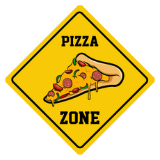 Pizza Zone Sign Sticker