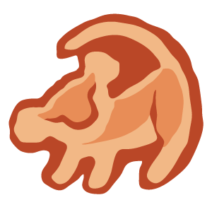 cool and cute The Lion King Simba Tree Drawing for stickermania